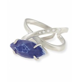 Kendra Scott Kendra Scott Rosemary Ring in Crackle Blue Agate