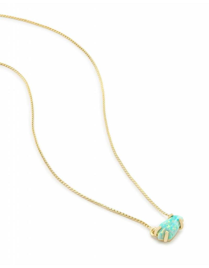 Kendra Scott Kendra Scott Jayde Gold Necklace in Aqua Opal