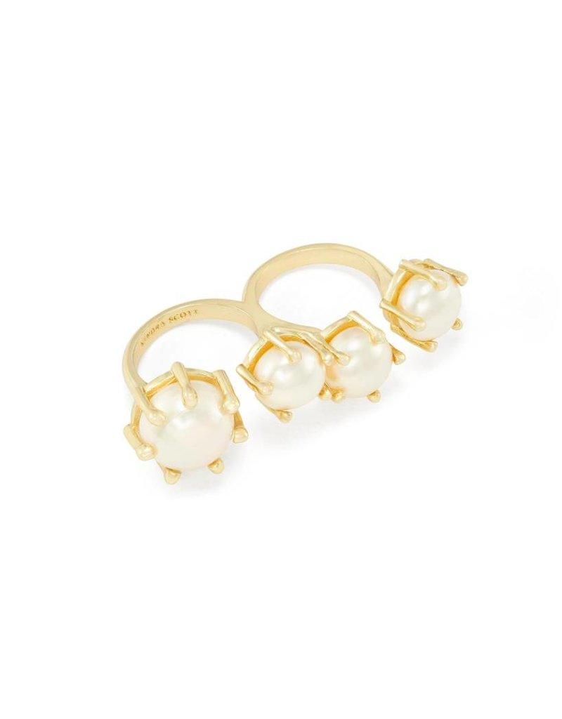 Kendra Scott Kendra Scott Harriet Double Ring in Gold