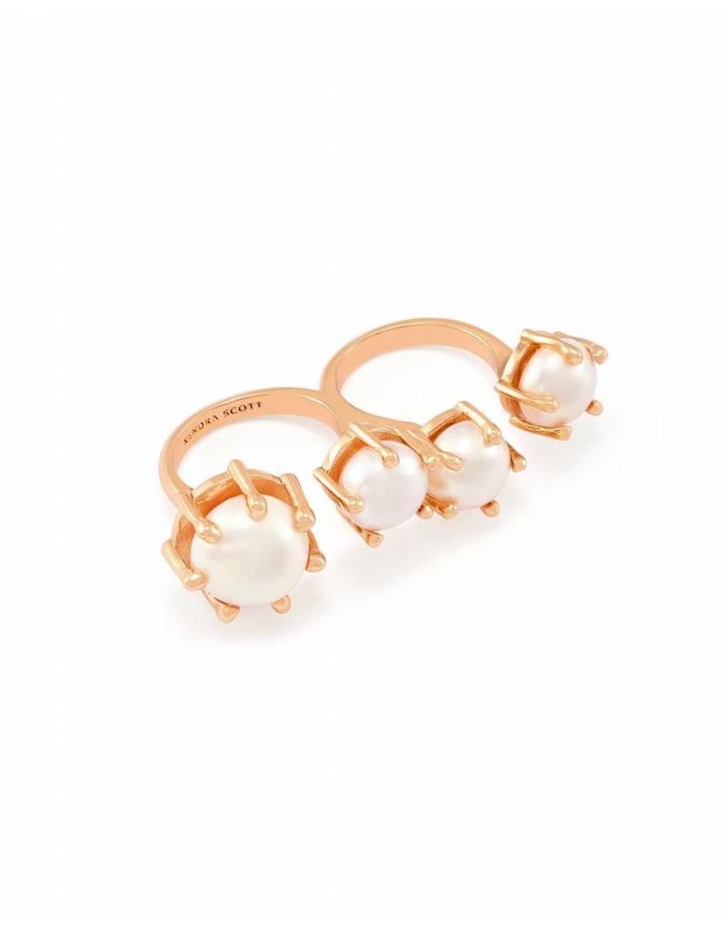 Kendra Scott Kendra Scott Harriet Double Ring in Rose Gold