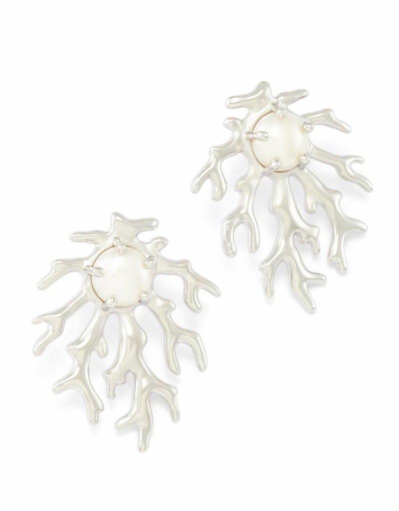 Kendra Scott Kendra Scott Hattie Statement Earrings in Silver