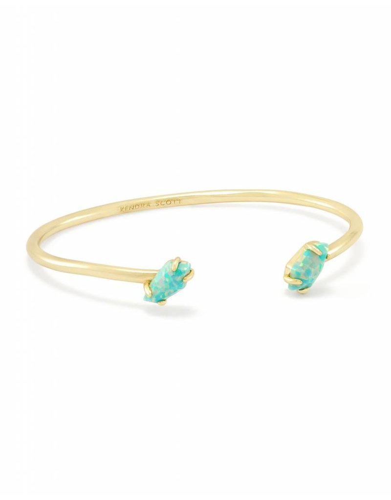 Kendra Scott Jackson Gold Bracelet in Aqua Opal