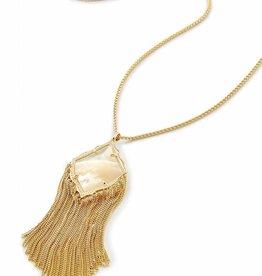 Kendra Scott Kendra Scott Kingston Pendant Necklace in Ivory Pearl
