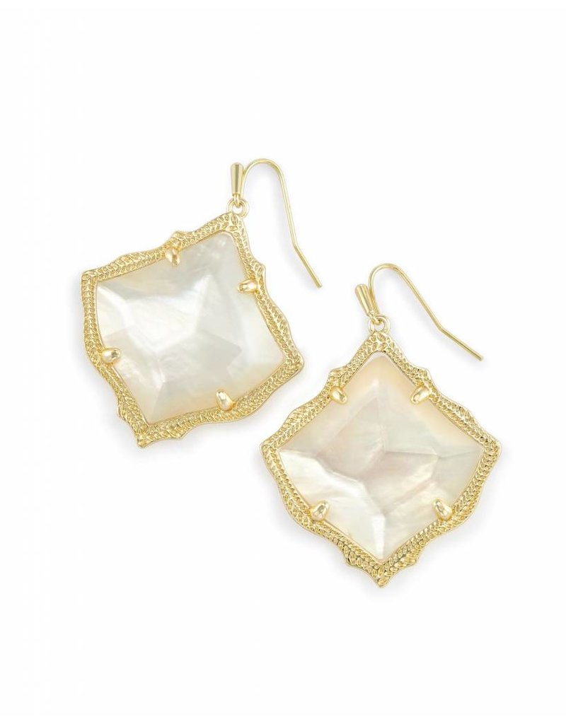Kendra Scott Kendra Scott Kirsten Earrings in Ivory Pearl on Gold