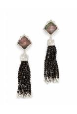 Kendra Scott Kendra Scott Misha Clip On Earrings in Black Pearl