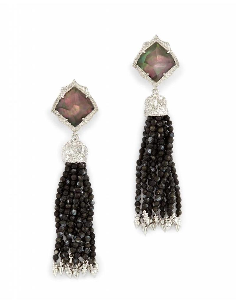 Kendra Scott Misha Clip On Earrings In Black Pearl