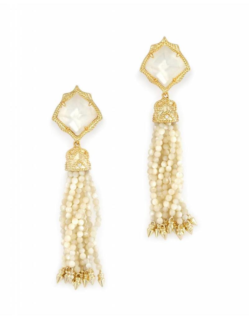 Kendra Scott Kendra Scott Misha Statement Earrings in Ivory Pearl