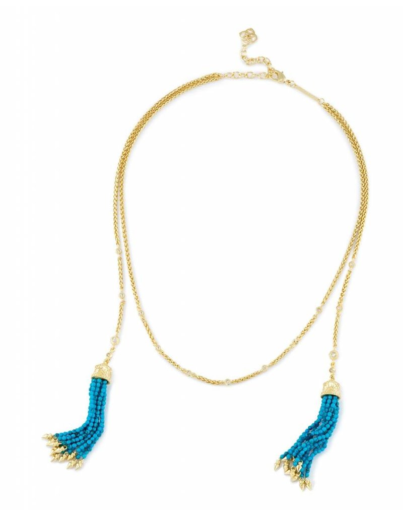 Kendra Scott Kendra Scott Monique Lariat Necklace in Bronze Veined Turquoise