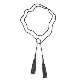 Kendra Scott Phara Lariat Necklace in Gunmetal