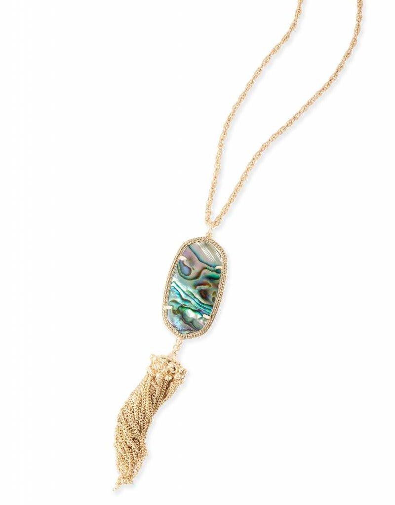 Kendra Scott Kendra Scott Rayne Necklace in Gold Abalone Shell