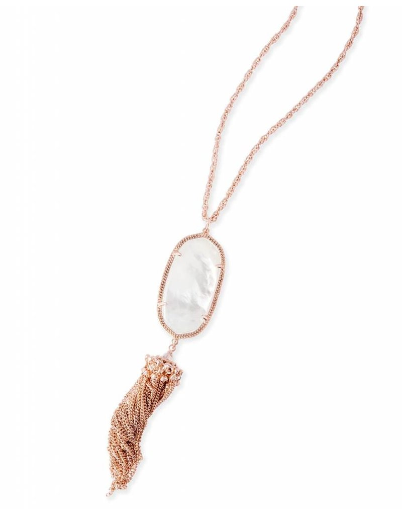 Kendra Scott Kendra Scott Rayne Necklace in Ivory Pearl on Rose Gold