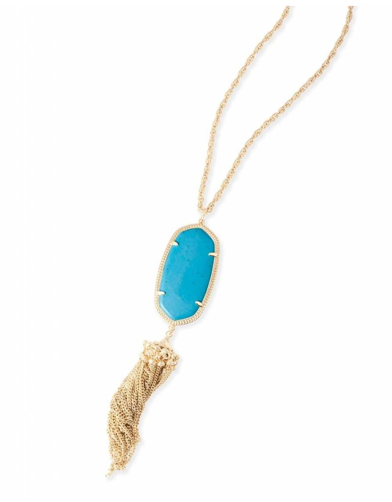 Kendra Scott Kendra Scott Rayne Necklace in Turquoise on Gold