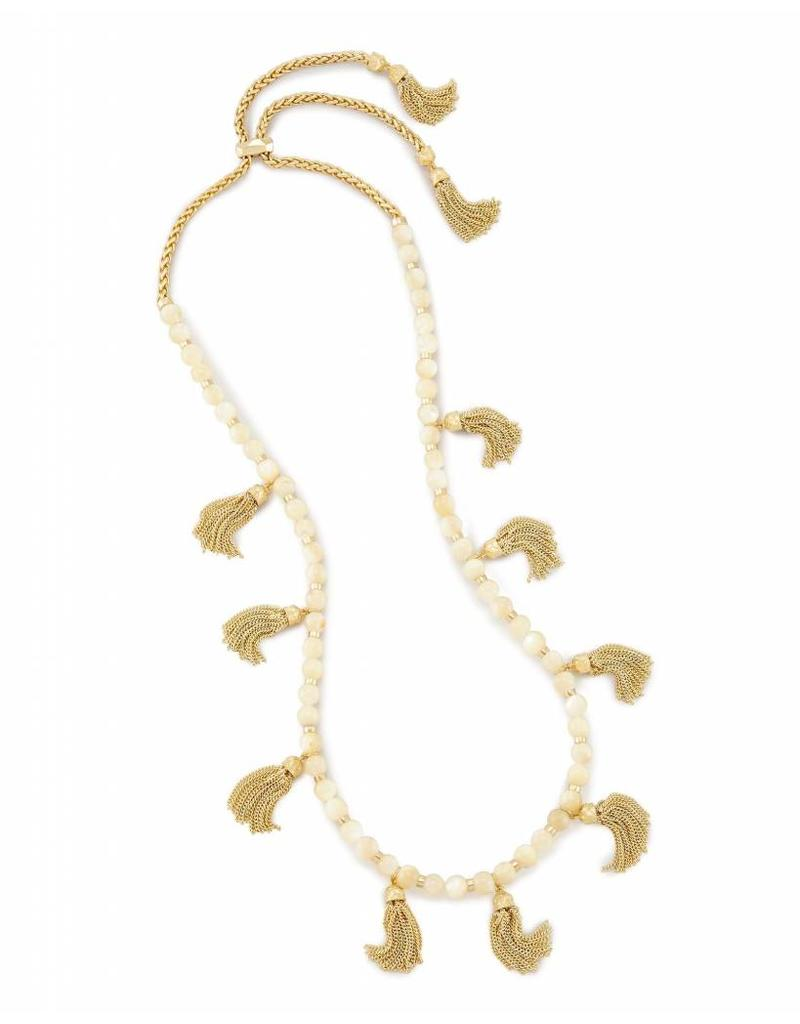 Kendra Scott Kendra Scott Vanina Long Necklace in Ivory Pearl