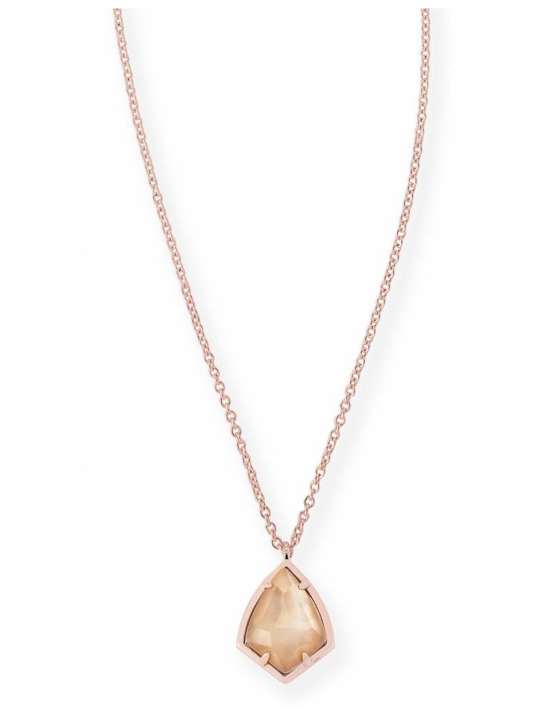 Kendra Scott Kendra Scott Cory Necklace in Brown Pearl on Rose Gold