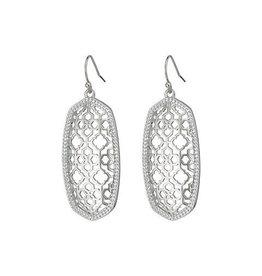 Kendra Scott Kendra Scott Elle Earrings in Silver Filigree on Silver