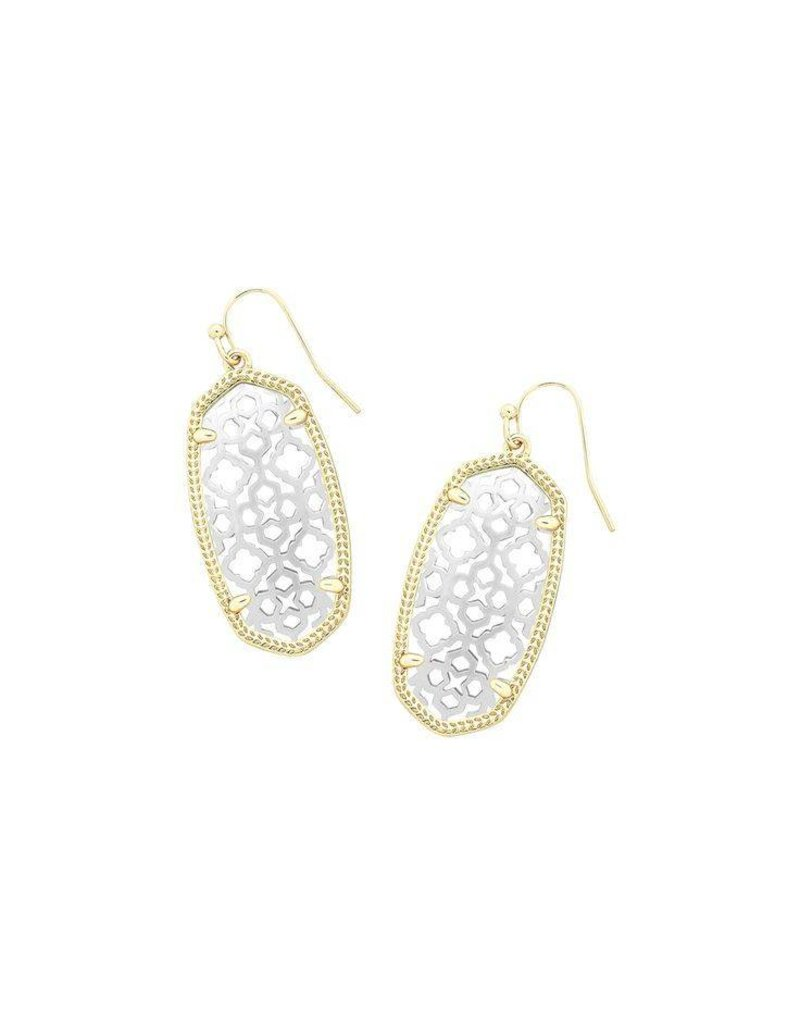 Kendra Scott Kendra Scott Elle Earrings in Silver on Gold Filigree