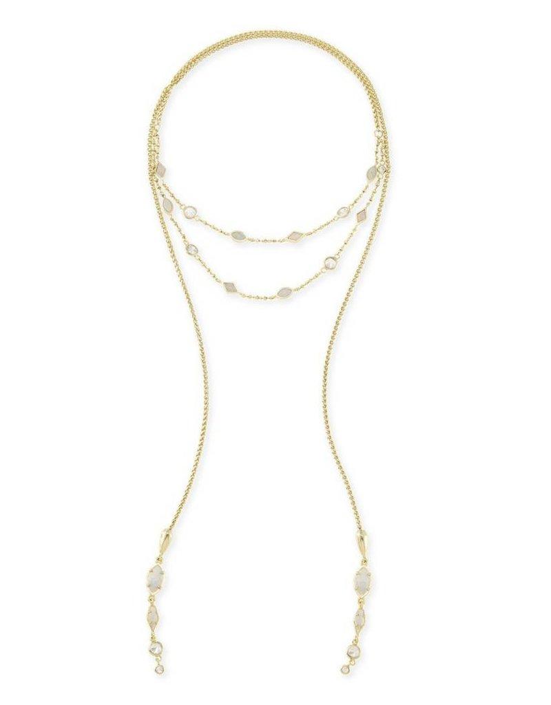 Kendra Scott Kendra Scott Emelina Lariat Necklace in Gold
