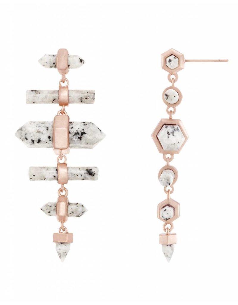 Kendra Scott Kendra Scott Talia Earrings in Granite on Rose Gold