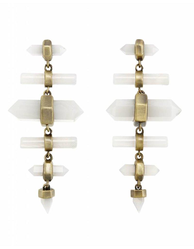 Kendra Scott Kendra Scott Talia Earrings White Banded Agate