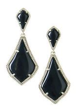 Kendra Scott Kendra Scott Alexa Earrings in Black on Gold