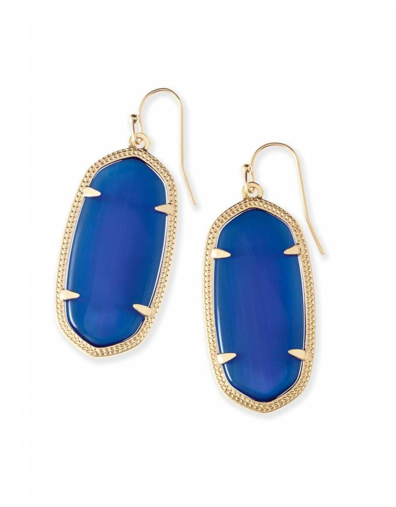 Kendra Scott Kendra Scott Elle Earrings in Navy on Gold