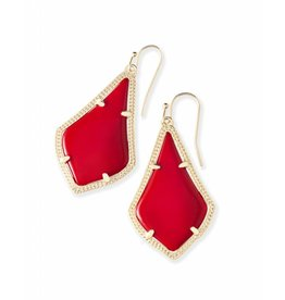 Kendra Scott Alex Earrings in Bright Red