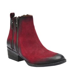 Corral Red Double Zipper Bootie- Q0023