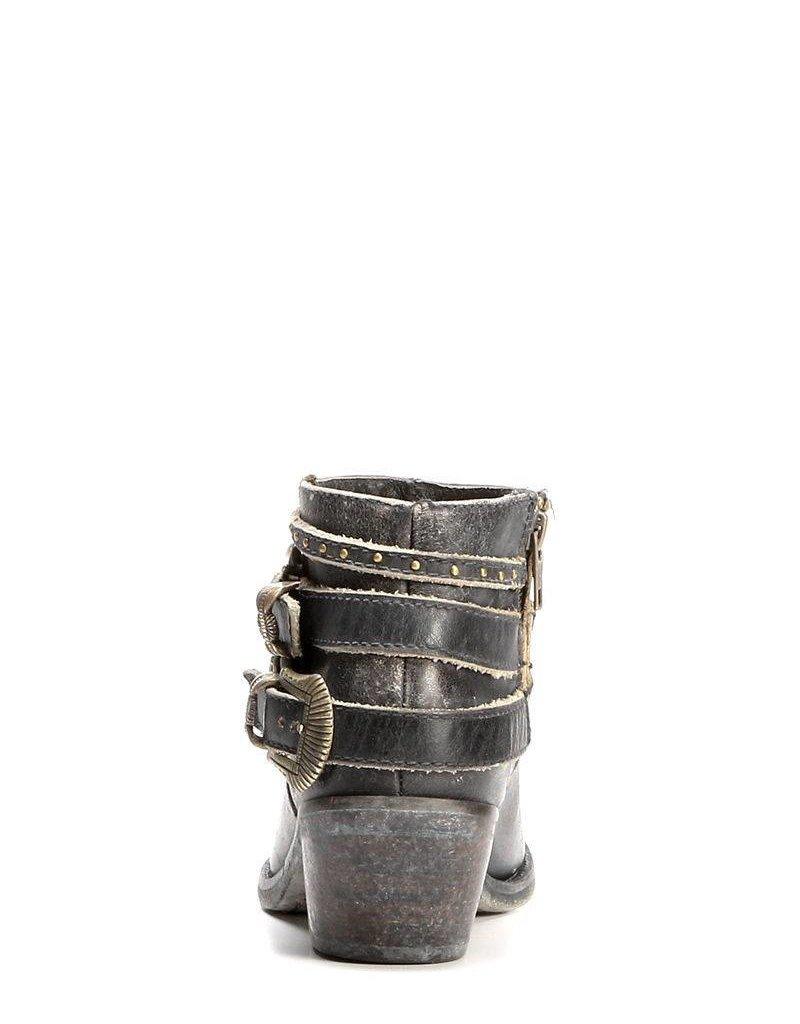 Corral Distressed Black Multi-Straps Shortie P5101