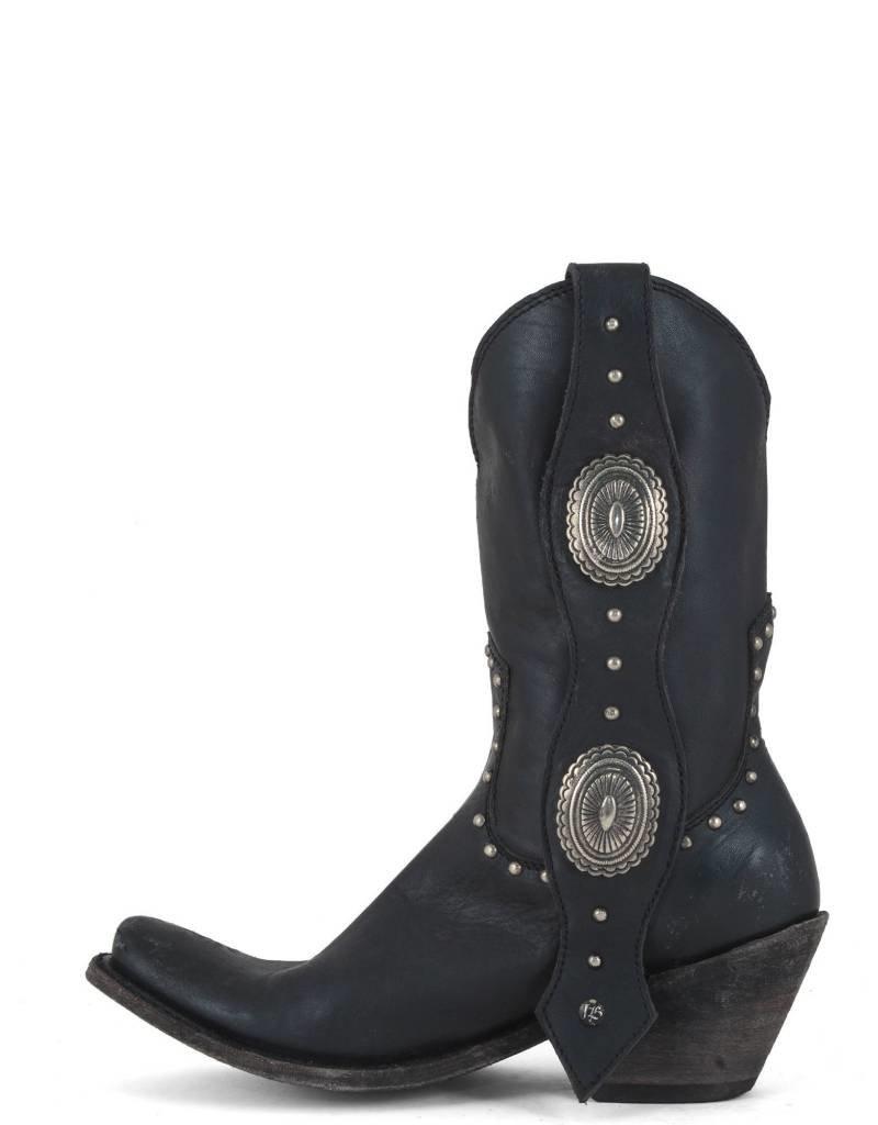 Liberty Black Black Conch & Stud Boots