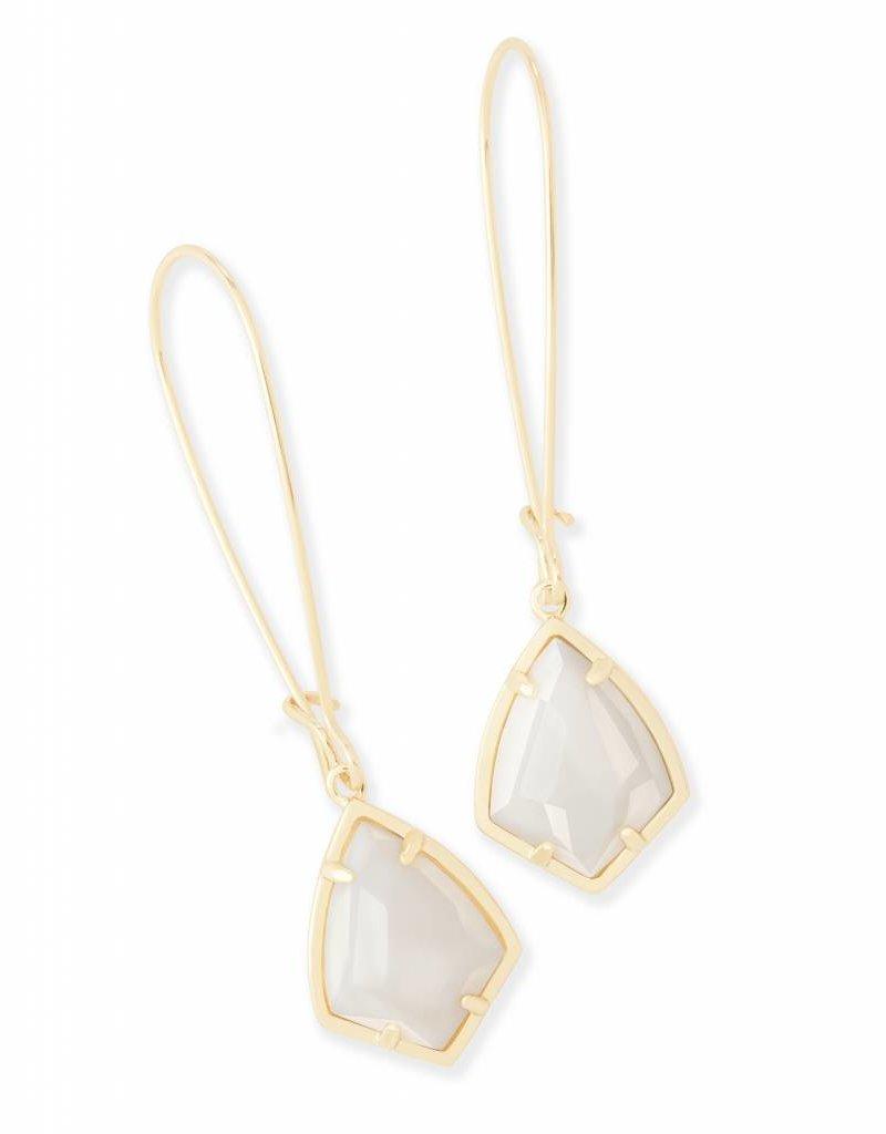 Kendra Scott Kendra Scott Carinne Earrings in White Pearl on Gold