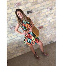 Cousin Earl Aztec Geometric Dress