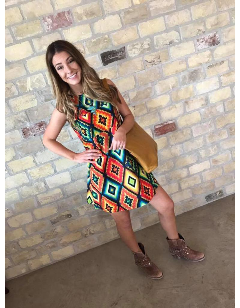 Aztec Geometric Dress