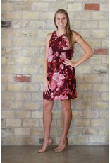 Kut Denim Merlot Sleeveless Floral Dress