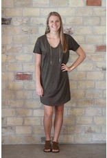 Z Supply Faux Suede Dress in Rosin