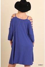 Cobalt Cutout Sleeve Dress