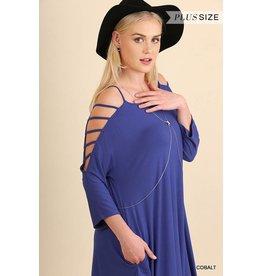 Cobalt Cutout Sleeve Dress