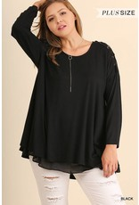 Criss Cross Long Sleeve Tunic