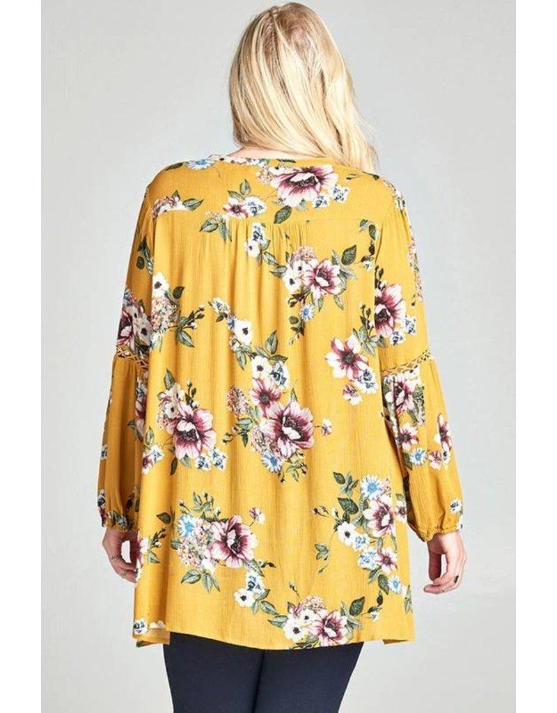 Mustard Floral + Tunic