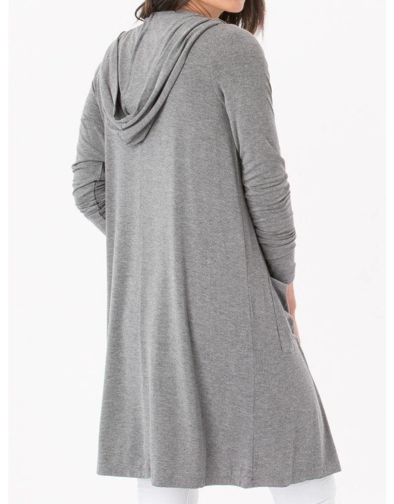 Z Supply Sleek Jersey Duster in Charcoal