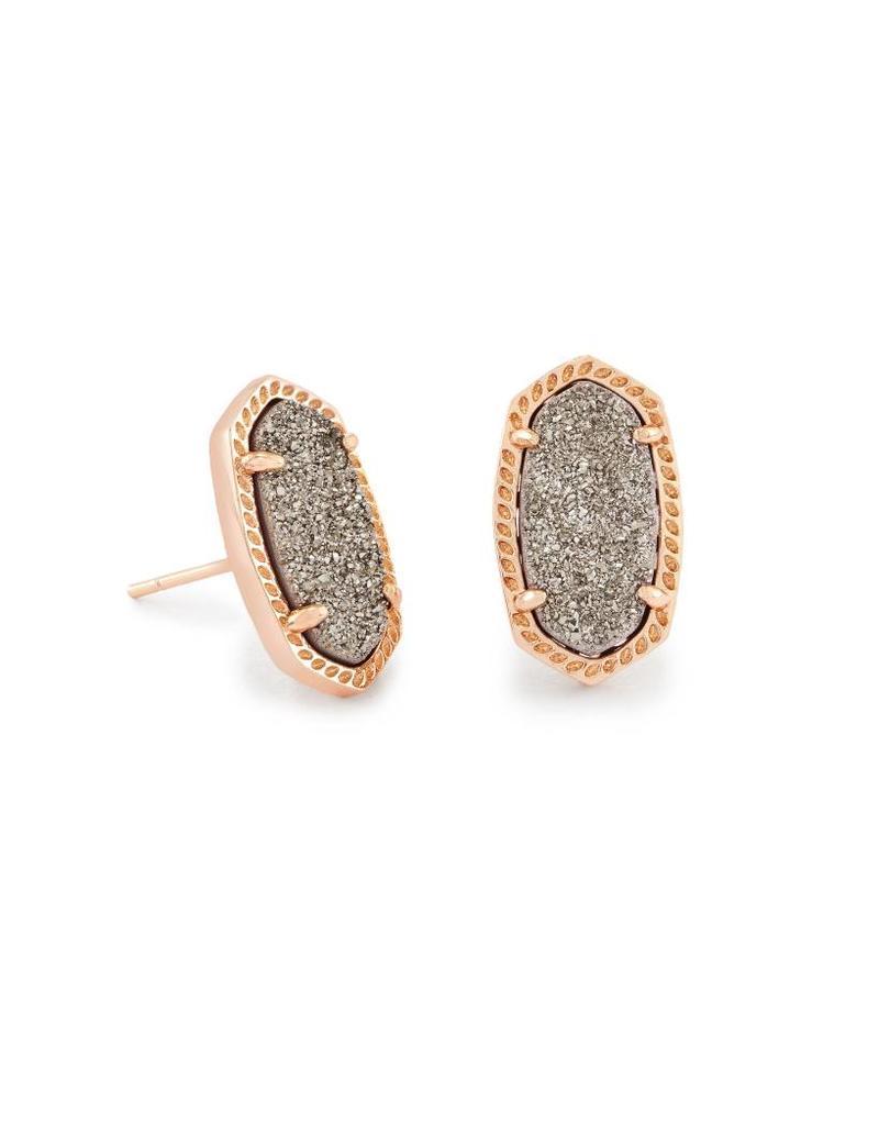 Kendra Scott Kendra Scott Ellie Earrings Plat Drusy on Rose Gold