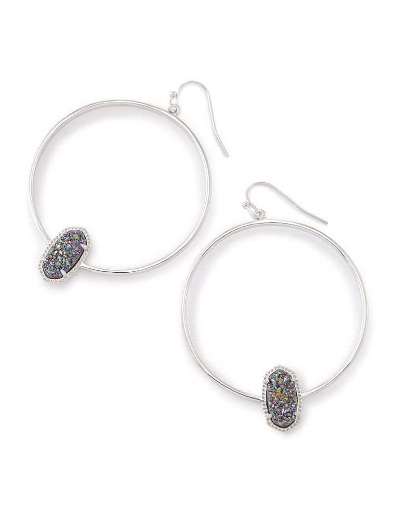 Kendra Scott Kendra Scott Elora Hoop Earrings Multi Drusy on Silver