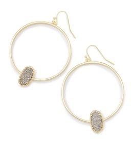 Kendra Scott Kendra Scott Elora Hoop Earrings Plat Drusy on Gold