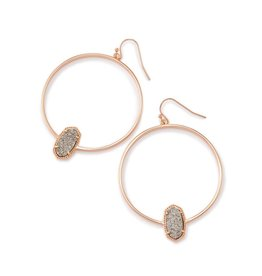 Kendra Scott Kendra Scott Elora Hoop Earrings Platinum Drusy on Rose Gold