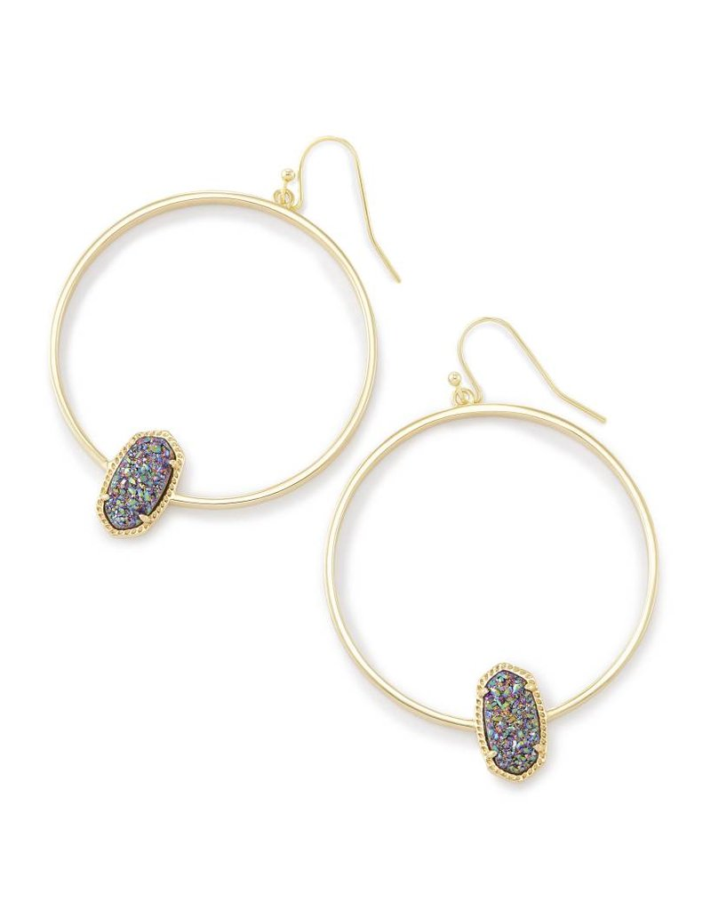Kendra Scott Kendra Scott Elora Hoop Earrings Multi Drusy on Gold