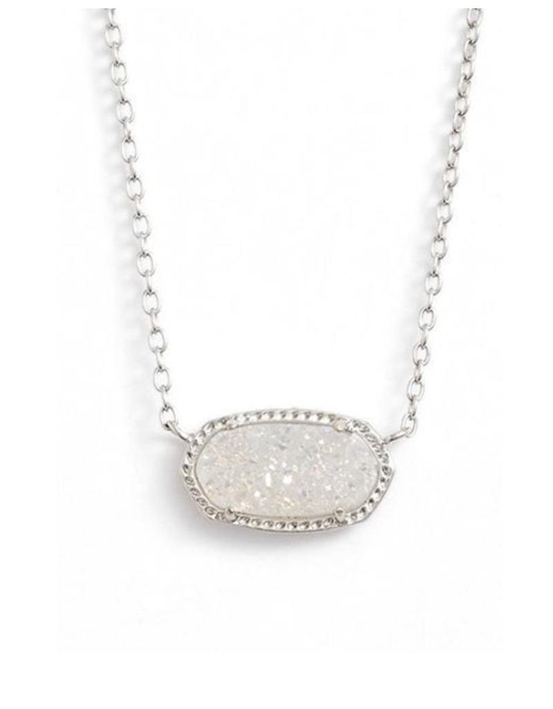 Kendra Scott Kendra Scott Elisa Necklace in Iridescent Drusy on Silver