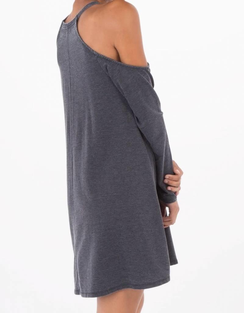 Z Supply Z Supply L/S Cold Shoulder Dress Black