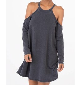Z Supply Z Supply L/S Cold Shoulder Dress Black