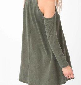 Z Supply Z Supply L/S Cold Shoulder Dress Rosin