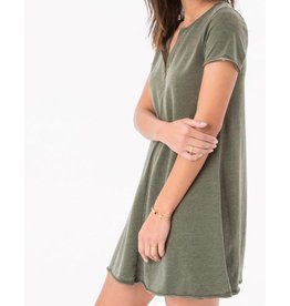 Zsupply Front Zip Swing Dress in Rosin/Olive