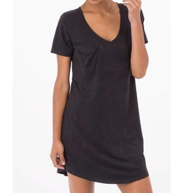 Z Supply Faux Suede Dress in Black